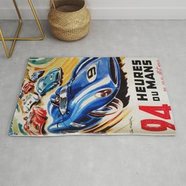 Le Mans poster, 1956, race poster, t shirt Rug