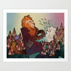 Lion Revisited Art Print