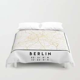BERLIN GERMANY CITY STREET MAP ART Duvet Cover