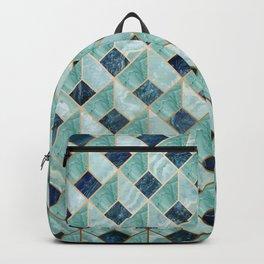 """Agate teal Indigo quartz Art Deco pastel"" Backpack"
