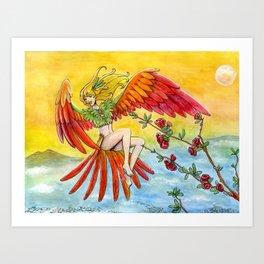 L'oiseau exotique Art Print