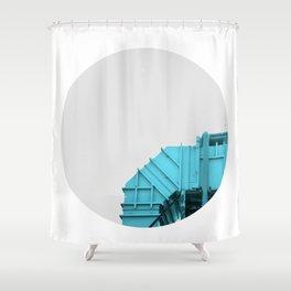 Air intake/ Cian Shower Curtain