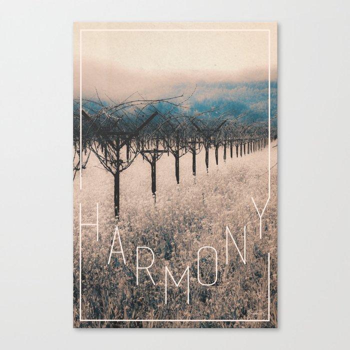 Winter Vineyard II - Nature's Orchestra Canvas Print