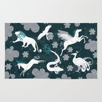 constellation Area & Throw Rugs featuring  Constellation  by Liluna