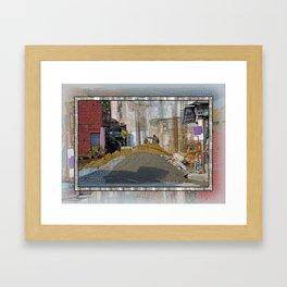 CONSTRUCTION SITE POKHARA NEPAL Framed Art Print