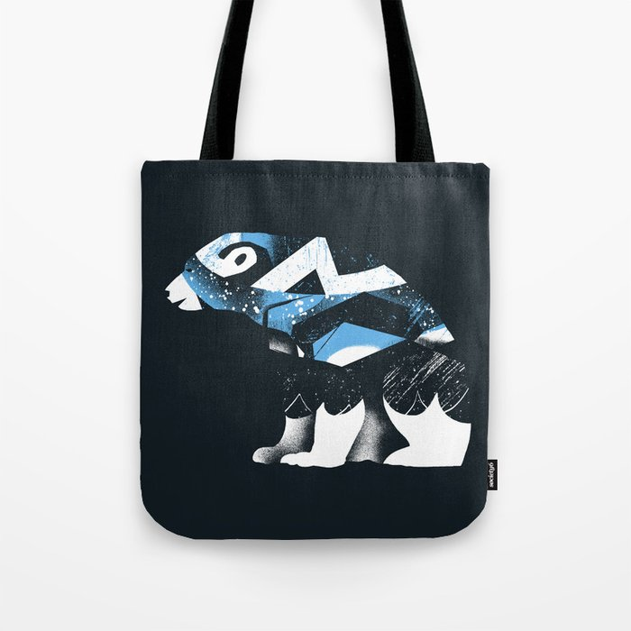 winter bear tote bag by amelia society6. Black Bedroom Furniture Sets. Home Design Ideas