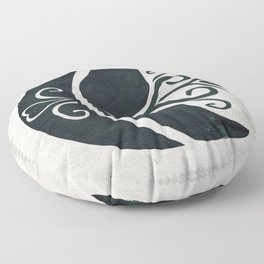 Odin's Ravens (Memory and Thought) Floor Pillow