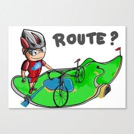 Bike Route Canvas Print