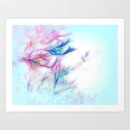 Tree Branch Abstract In Color Art Print
