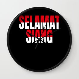 Hello Indonesian Gift Wall Clock