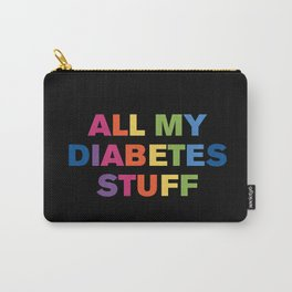 All My Diabetes Stuff™ (Black Multi) Carry-All Pouch