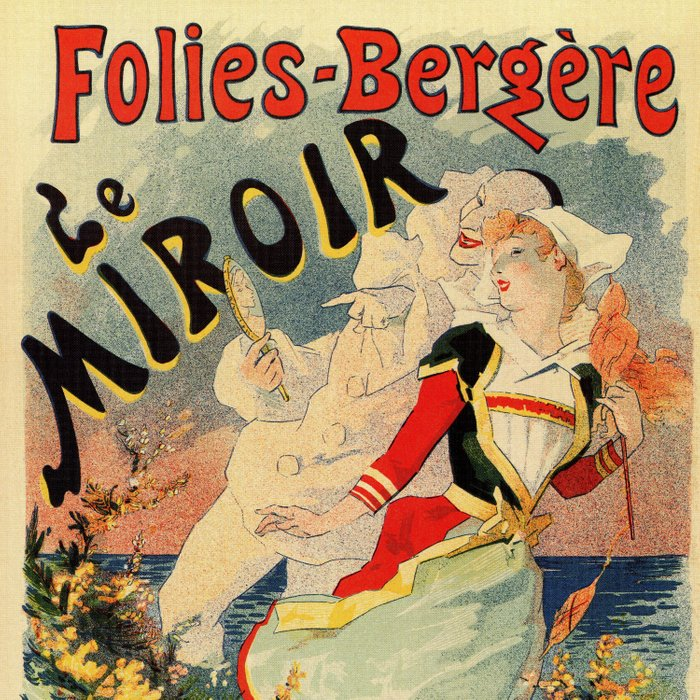 French belle epoque mime theatre advertising Comforters