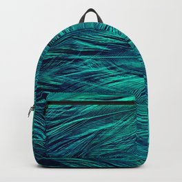 Teal Feathers Backpack