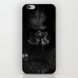 Predator black and white iPhone Skin