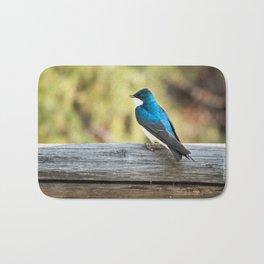 Blue Bird Photography Print Bath Mat