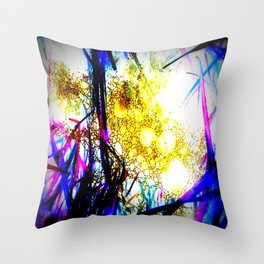 Raindrops in the Grass Throw Pillow