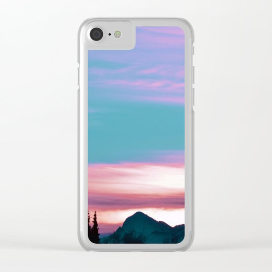 Alaskan Pastel Vibes Clear iPhone Case