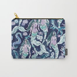 SIREN CITY Indigo Mermaid Print Carry-All Pouch