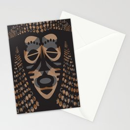 African Tribal Mask No. 1 Stationery Cards
