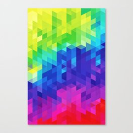 Abstract LGBT Pattern Canvas Print