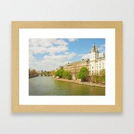 The River Seine Framed Art Print