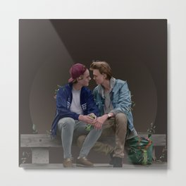 LOVE, EVAK. (dark version) Metal Print