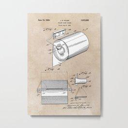 patent art Allen Toilet paper holder 1933 Metal Print