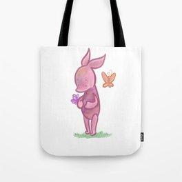 Spring Piglet Tote Bag
