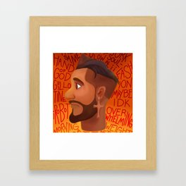 jon bellion sketch tour 2019 2020 simukasama Framed Art Print