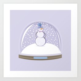 Snowman. Christmas Time. Art Print
