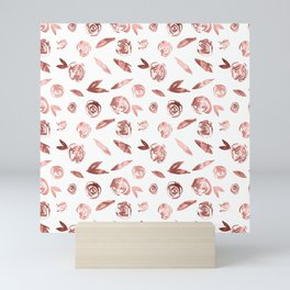 Rosette Rose Gold Mini Art Print