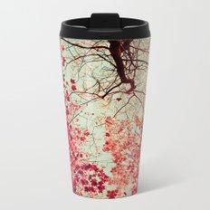 Autumn Inkblot Metal Travel Mug