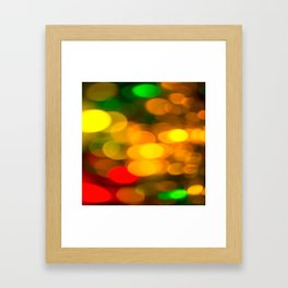 Colorful Bokeh Beautiful light #decor #society6 Framed Art Print