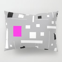 Retro tv abstract Geometric Pattern design Pillow Sham