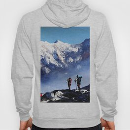 Panoramic View Of Ama Dablam Peak Everest Mountain Hoody