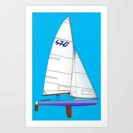470 Olympic Sailboat Art Print