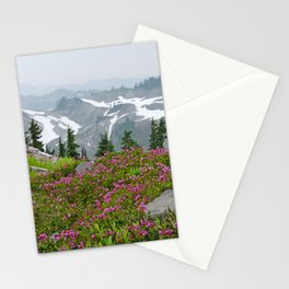 THE LAST OF SUMMER'S SNOW FROM KULSHAN RIDGE Stationery Cards