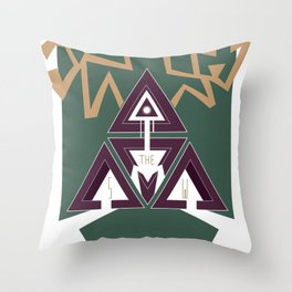 DEERHORN Throw Pillow