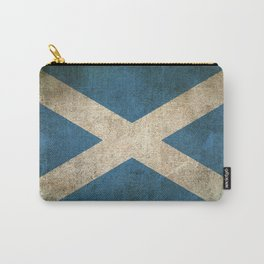 Old and Worn Distressed Vintage Flag of Scotland Carry-All Pouch