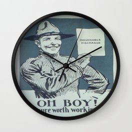 Vintage poster - Honorable Discharge Wall Clock