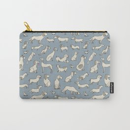 Vintage print with dogs Carry-All Pouch