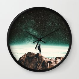 Intergalactic Adventure Awaits Wall Clock
