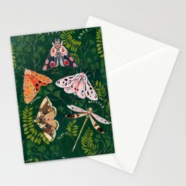 Moths and dragonfly Stationery Cards