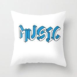 True music lover Throw Pillow