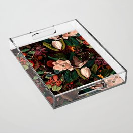 FLORAL AND BIRDS XIV Acrylic Tray