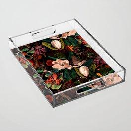 FLORAL AND BIRDS XIV Acrylic Tray