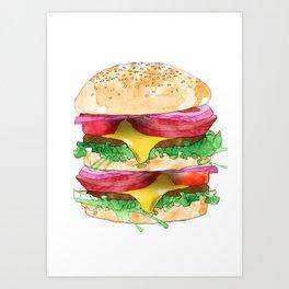 California Burger Art Print