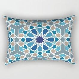 Arabic Geometric Design Pattern Rectangular Pillow