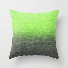 Ombre Lime Throw Pillow