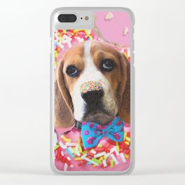 Doggy Donut Clear iPhone Case